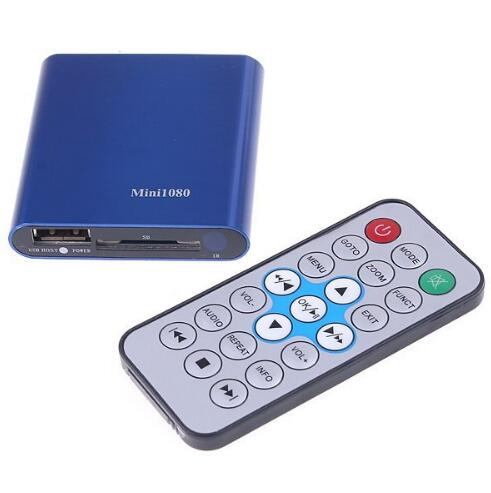 MINI Full HD 1080P USB External HDD Media player With SD MMC card reader HOST OTG support MKV H.264 RMVB DVD MPEG(China (Mainland))