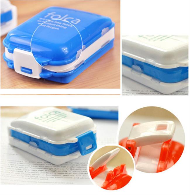 Pill case-New Portable Weekly Sort 3 Layer Folding Vitamin Medicine Pill Box Makeup Storage Case Container Travel Organizer,7pcs(China (Mainland))