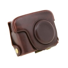 PU leather Protector Case Detachable Bag for Canon G16 Digital Camera Coffee New(China (Mainland))