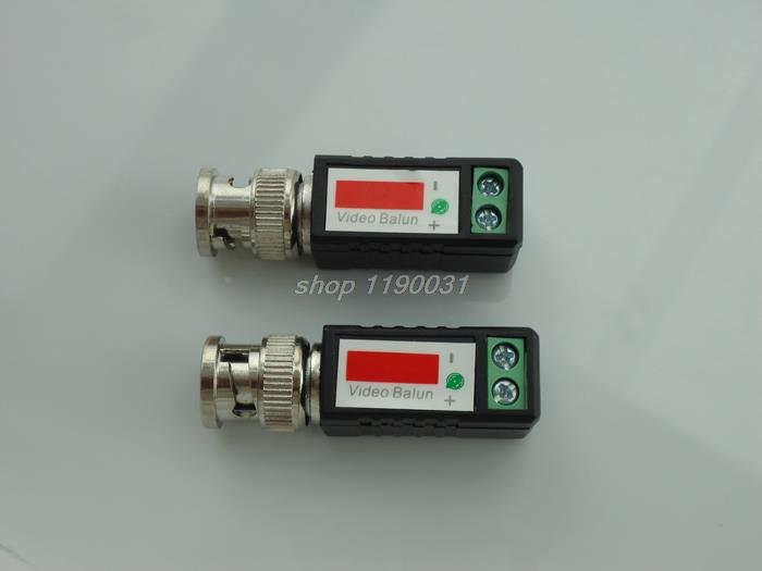 20piece CCTV video balun Twisted BNC Passive balun Transceiver BNC Male COAX CAT5 Camera UTP Cable Coaxial Adapter for IP Camera(China (Mainland))