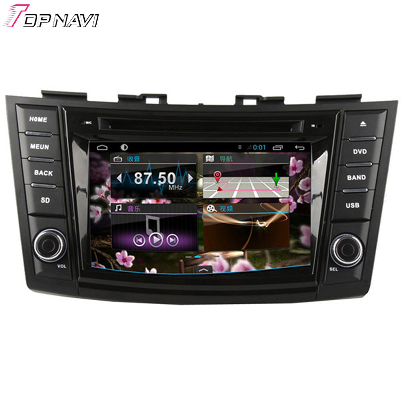 Top DHL Free Shipping 7'' Quad Core Android 4.4 Car DVD Stereo For SUZUKI SWIFT With 1024*600 Resolution GPS Map Wifi Bluetooth(China (Mainland))