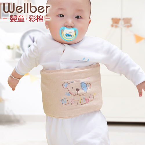 Wellber Natural 100%Cotton Thicker Baby Bellyband Navel Band Newborn Belly Protecting Warm Belly Around(China (Mainland))
