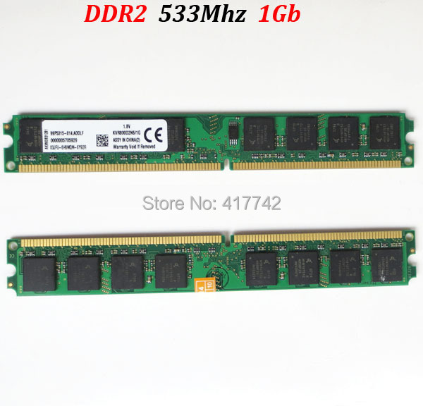 ( for AMD and for Intel ) desktop PC3-4200 DIMM RAM DDR2 533 2Gb memoria / ddr2 2G 533Mhz -- lifetime warranty -- good quality(China (Mainland))
