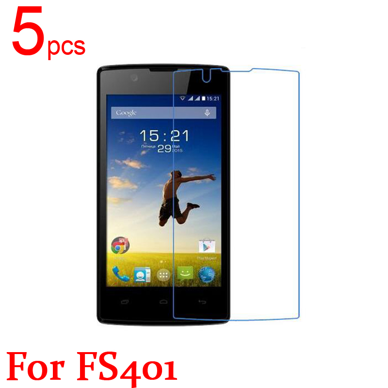 5pcs Ultra Clear LCD Screen Protector Film Cover For Fly FS401 Stratus 1 Protective Film