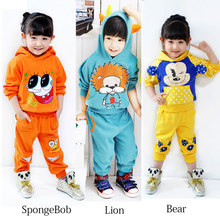 Retail New Arrival Children's sports suit for spring and autumn, Suits for 2-7 years girls and boys kids, free shipping(China (Mainland))