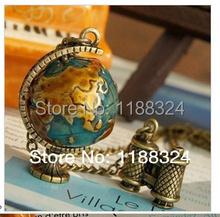 Fashion Vintage Jewelry Globe Telescope Alloy long Pendant Necklace for Women 2015 Retro Sweater Accessories
