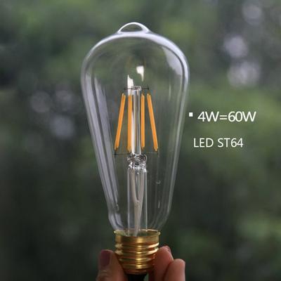 New retro E27 LED ST64 2 w and 4 w decoration incandescent lamp LED decorative light bulb filament tungsten Edison bulb(China (Mainland))