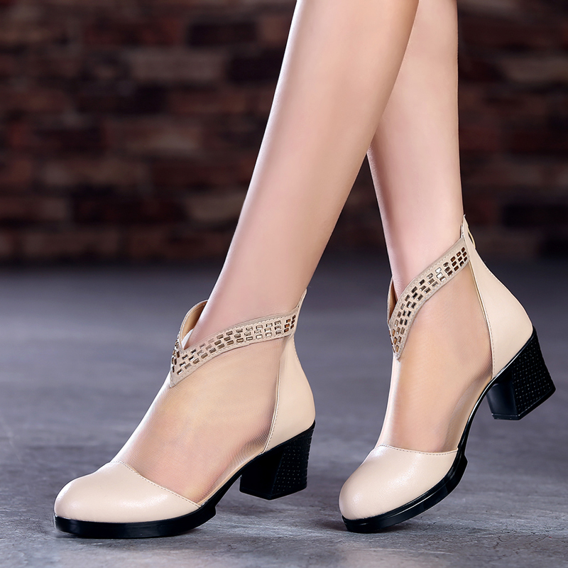 Гаджет  Woman Summer And Autumn Boot Genuine Leather Heels Ankle Boots Sys-1409 None Обувь