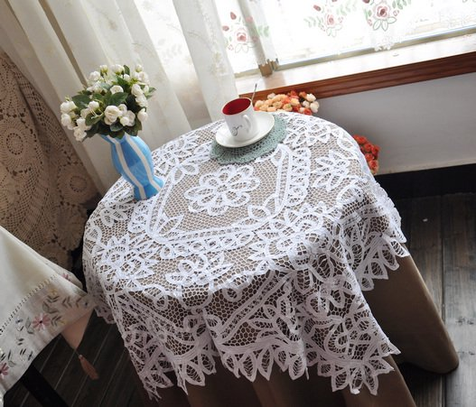 FREE SHIPPING !Battenburg Lace Design tablecover/Tablecloths 130*130cm(54*54inch)(China (Mainland))