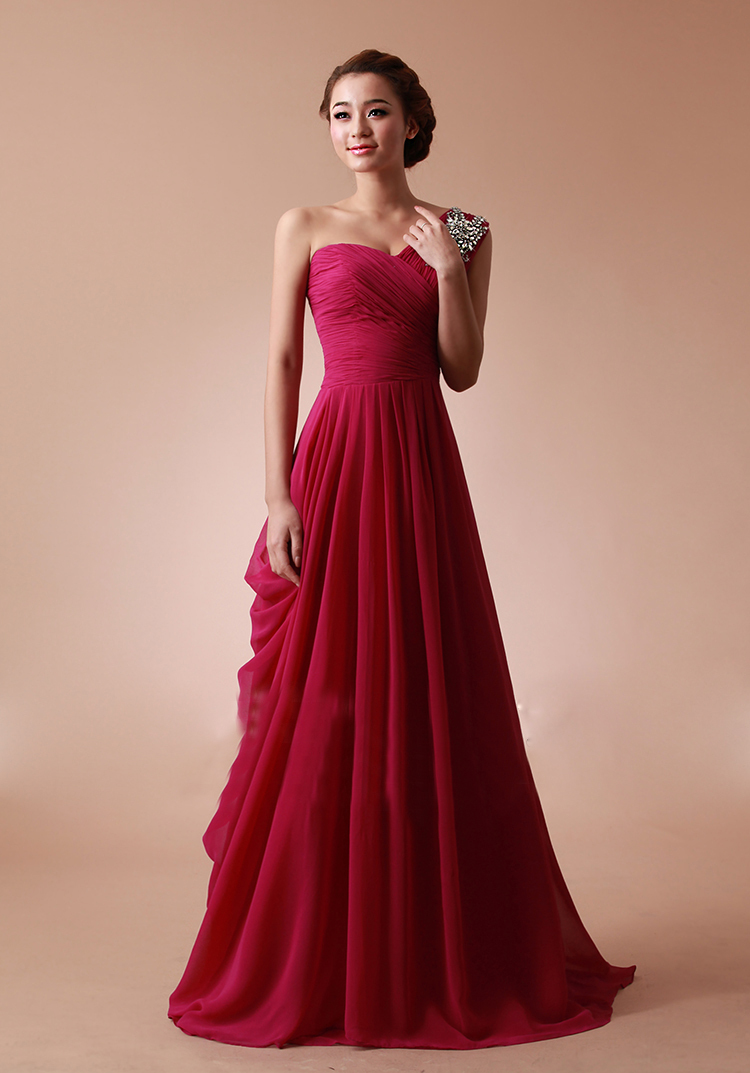 dark red strapless prom dress « Bella Forte Glass Studio
