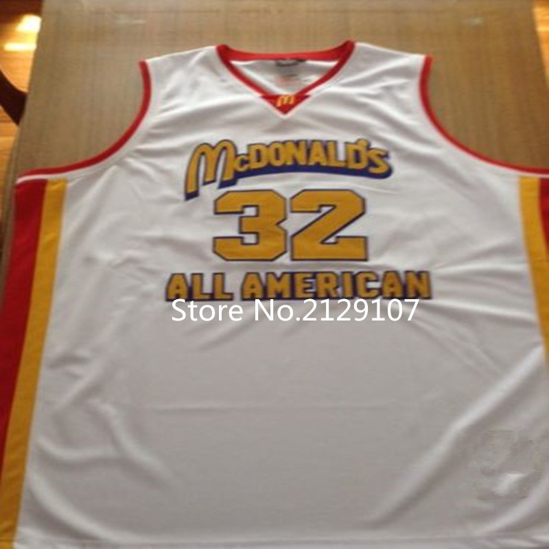 32 LeBron James McDonald ALL AMERICAN high quality basketball jerseys Customize player name and number of any size Men's Jerseys(China (Mainland))
