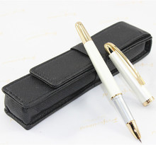 Buy Luxury Pearl White fountain pen 0.38MM Gold Clip Elegant Unique Stationery Executive writing pens for $3.83 in AliExpress store