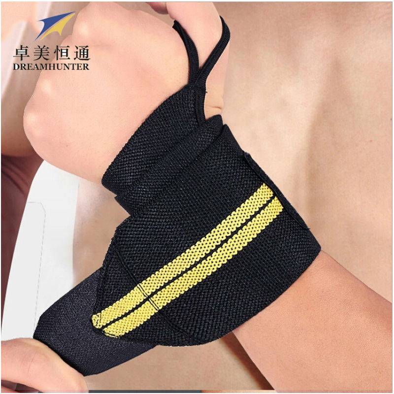 Sports Safety Elastic Wrist Support Brace Wrist Band Strap Wraps Badminton Weightlifting Crossfit Bodybuliding Wristbands(China (Mainland))