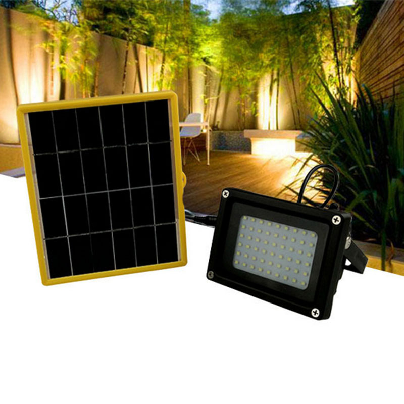 Solar Kit for Home Indoor Outdoor Portable Solar Powered Lighting System Waterproof SMD 54LEDs Floodlight for Garden Home Roof