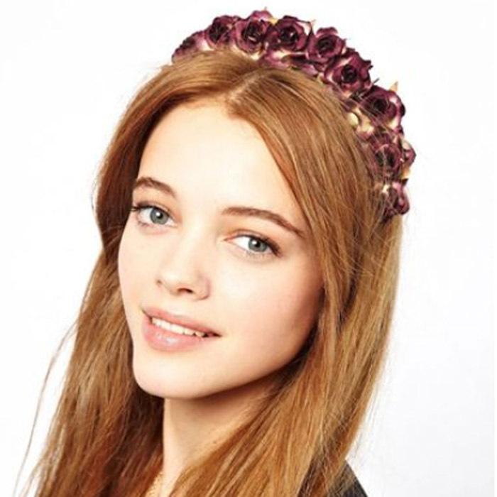 Fantasitc Fabric Flower Hair Bands Wedding Hair Accessories for Women Pink,Yellow,Red, Blue,Fuchsia,Grass Green(China (Mainland))