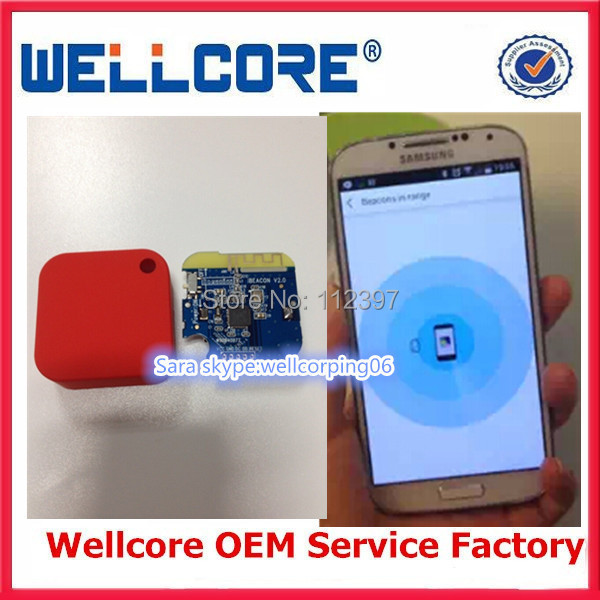 Hot Sales!!! Cheap Price for Low Energy BLE 4.0 beacon Bluetooth with CR2477 battery and Colorful case(China (Mainland))