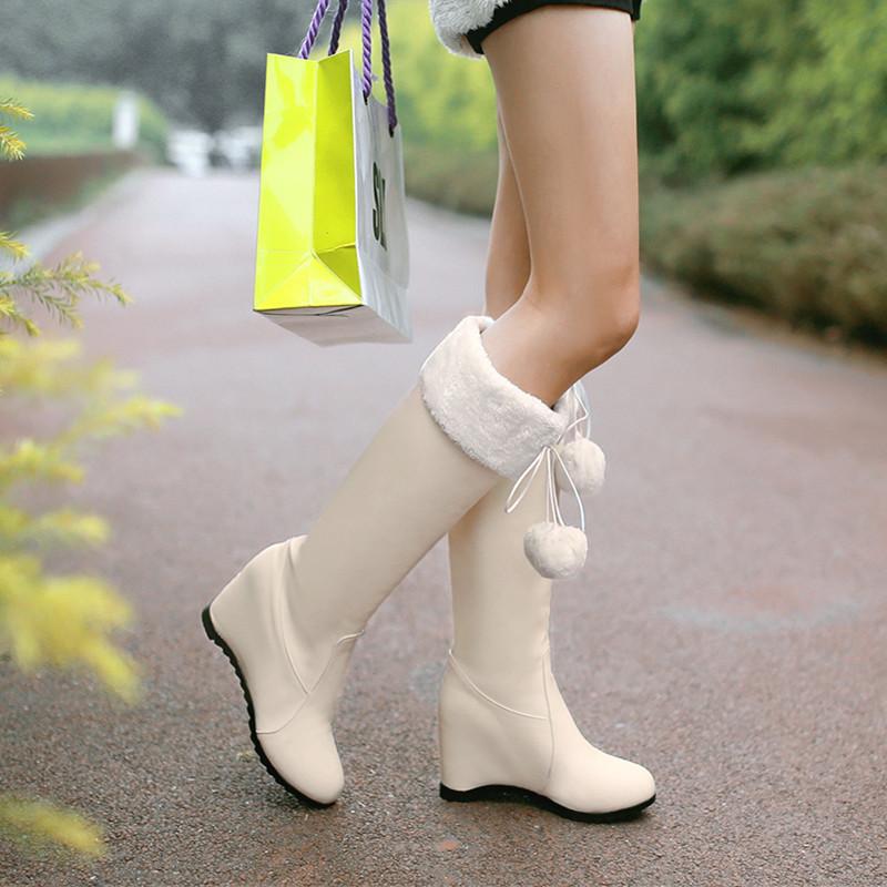 Гаджет  Free shipping! 2014 new winter boots women comfortable elevator high-leg high-heeled women