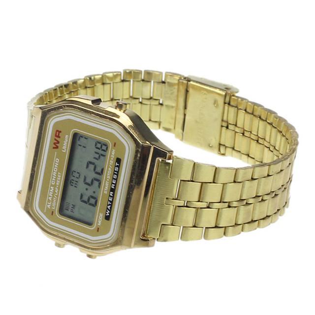 Zegarek męski cyfrowy z alarmem w stylu vintage dwa kolory