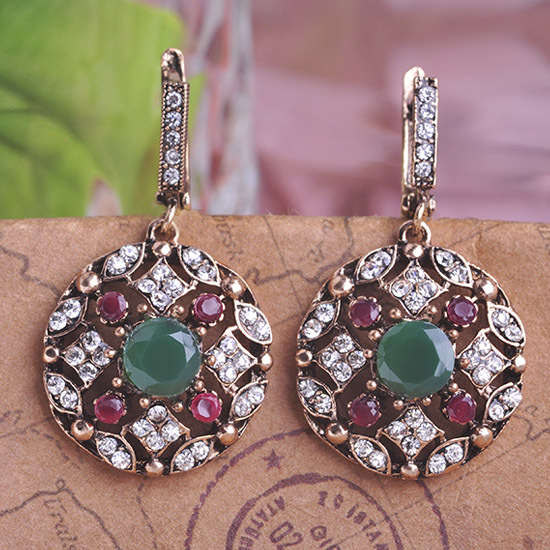 Fashion Top Selling Womans Joyas Bijoux Brand New Arrival Nice Turkish Jewelry Emerald Earrings For Men Max Brincos Relogios Ear(China (Mainland))