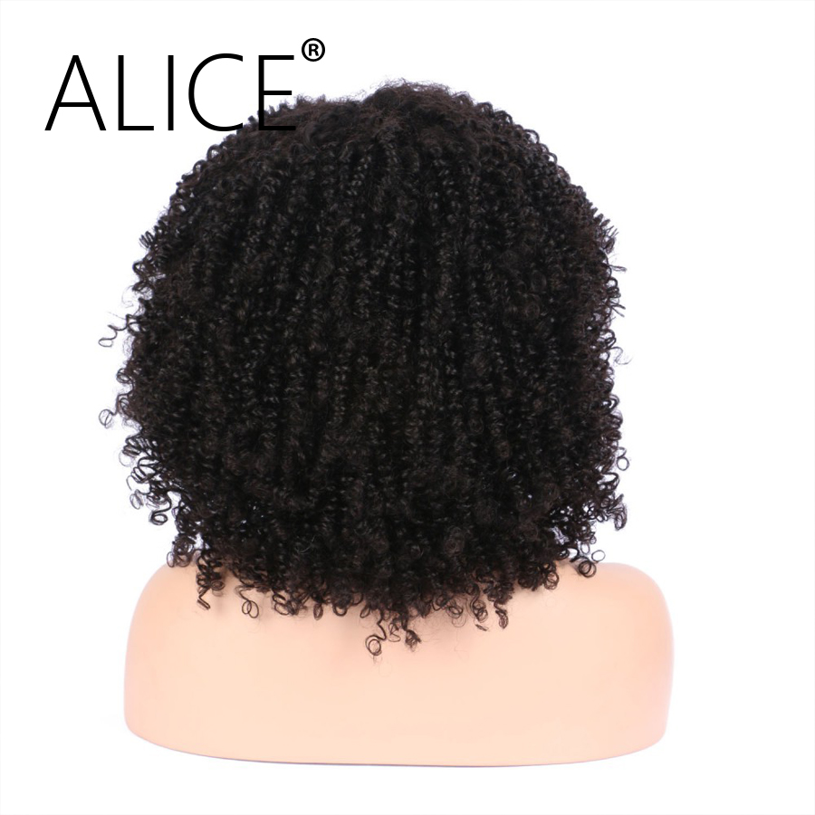 "ALICE 150 Density Brazilian Full Lace Wigs With Baby Hair Pre Plucked Kinky Curly Lace Wigs Virgin Hair 8-24"" Bleached Knots"