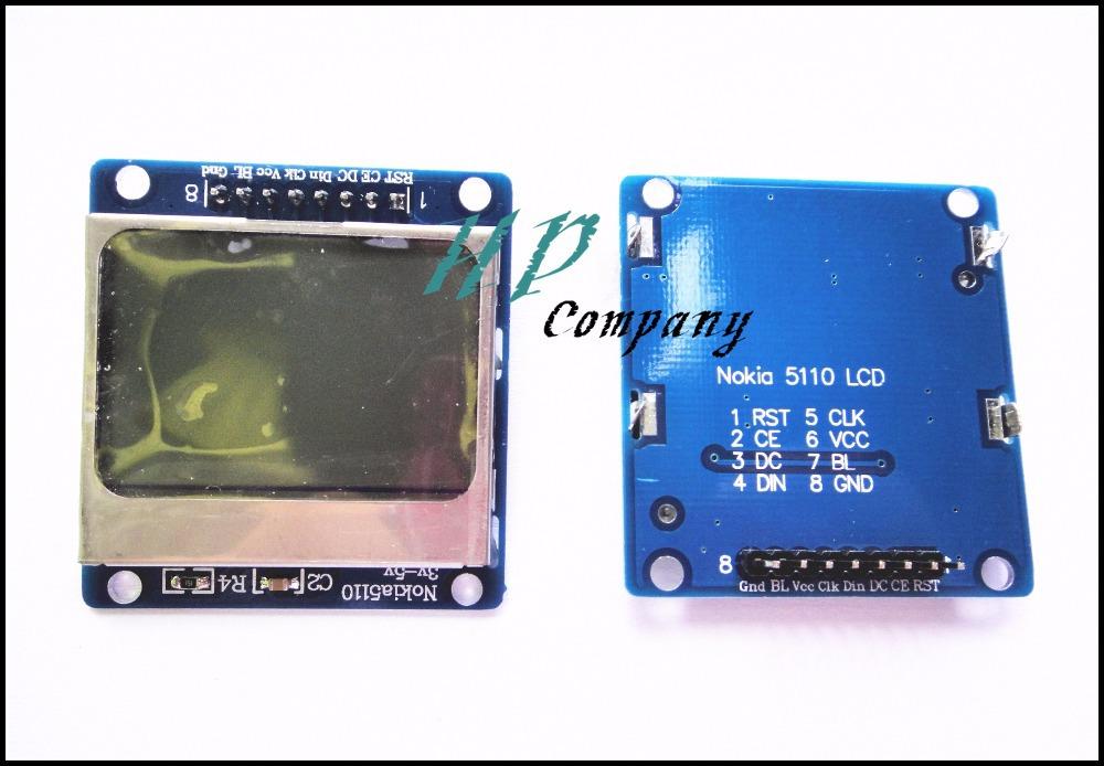Free shipping 10pcs 5110 LCD module Nokia LCD module The blue backlit LCD screen(China (Mainland))