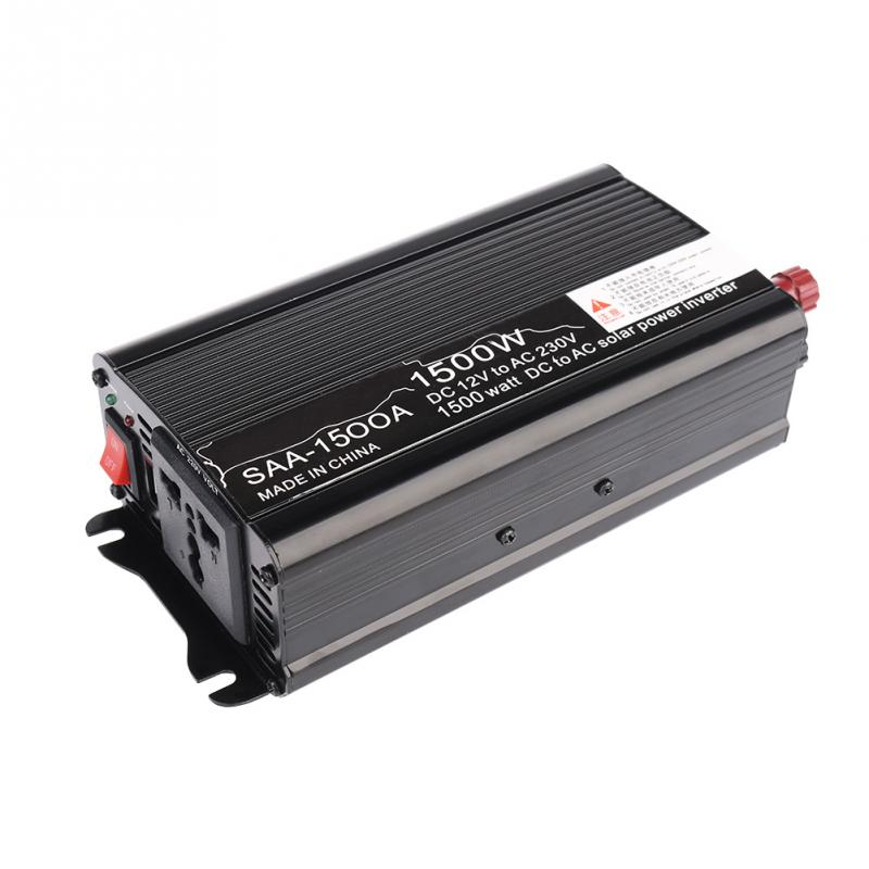 Black 1500W 3000W DC 12V-AC 220V/240V Car Charger Car Solar Power Inverter Converter Adapter Modified Sine Wave Form With USB(China (Mainland))