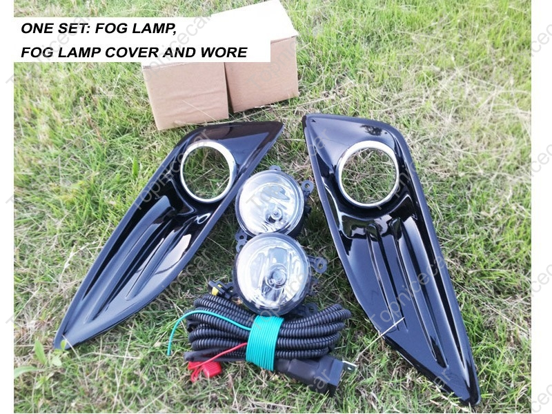 Set Driving Light Fog Light Lamp cover wiring harness For Ford Fiesta 2013-2015(China (Mainland))