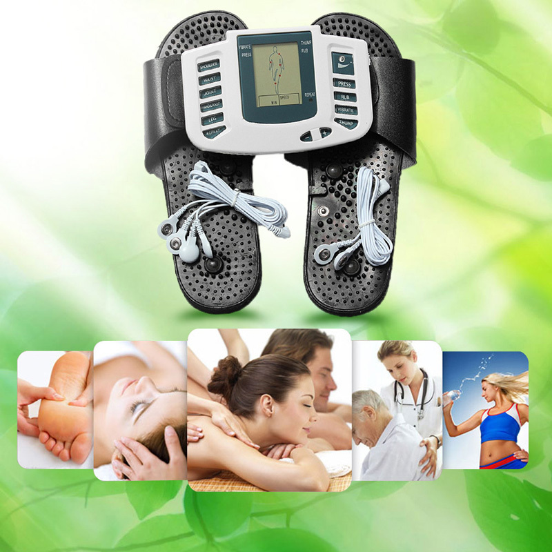 product Multifunctional Electronic LCD Body Massage Therapy Machine with Foot Slipper Massager massagem