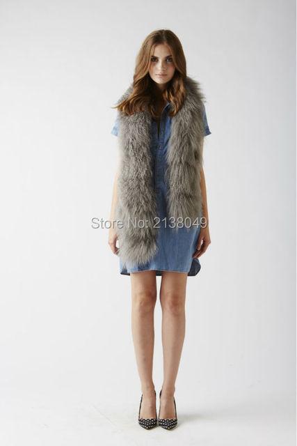 Fs00501 155 * 12 см длинные куски монгольских овец меха женщины шарфы