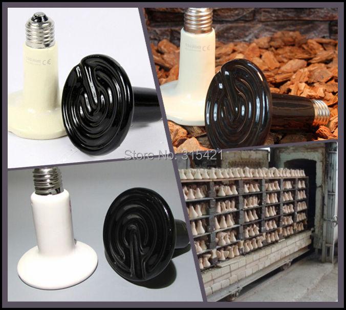 40Pcs/lot 75W Reptile pet appliances flat-type Infrared Ceramic heat lamp 110V/220V (Reptile/pet/amphibian/poultry) P401(China (Mainland))