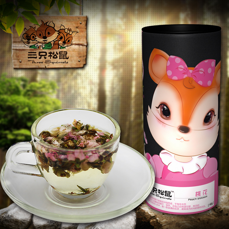 Herbal tea natural tea premium dried peach flower tea canned dc2 30g<br><br>Aliexpress
