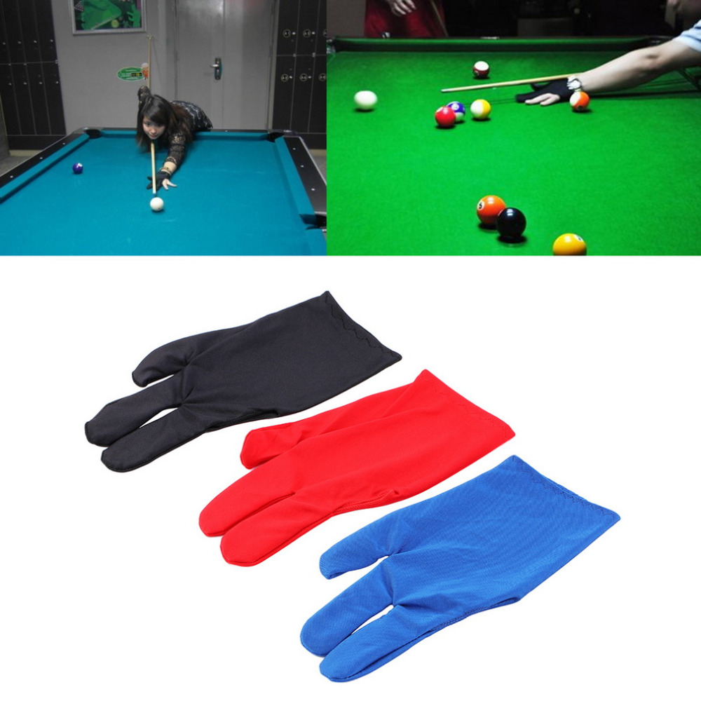 High Quality Durable Nylon 3 Fingers Glove for Billiard Pool Snooker Cue Shooter Black Free shipping new(China (Mainland))