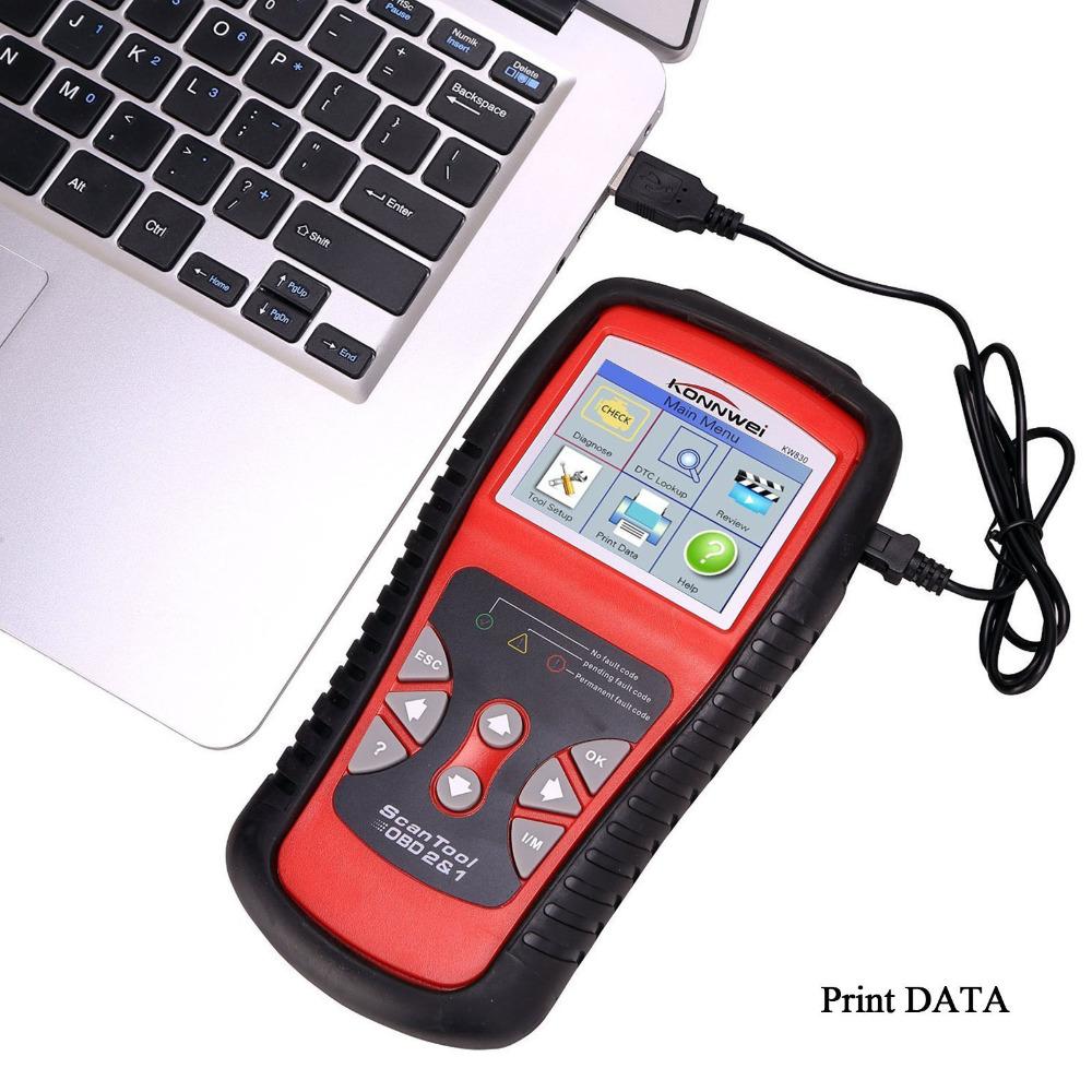 Hot Sales KW830 AL519 OBD2 EOBD Car Fault Code Reader Scanner Automotive Diagnostic Code Readers & Scan Tools Can Test Battery(China (Mainland))