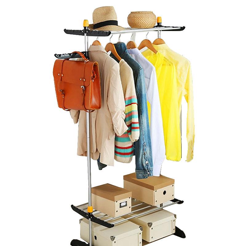 Творческий телескопический складной портативный шкаф-купе,мебель для спальни, ткани платяные шкафы,большие арматурная сталь шкаф для одежды,вешалка для верхней одежды