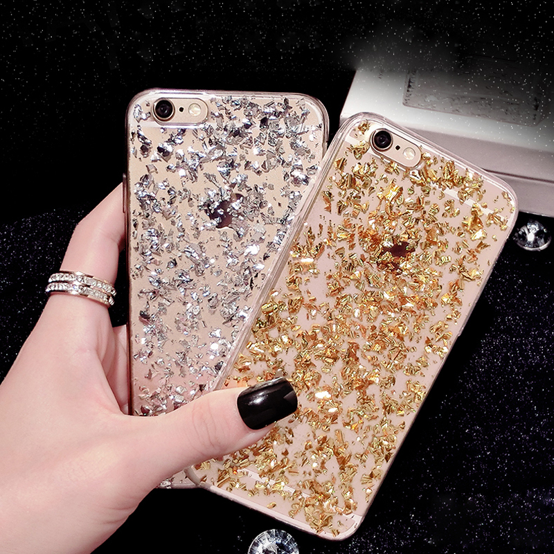 Gold Bling Paillette For iPhone 6 6S Case Sequin Skin Clear Soft TPU coque For iPhone 6 Plus 6S Plus luxury Cover(China (Mainland))
