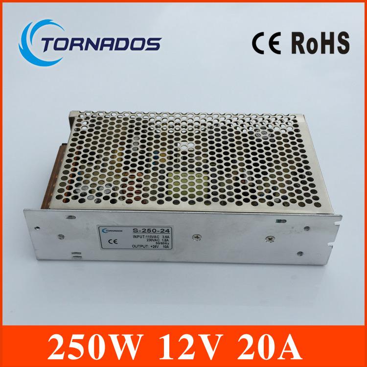 aluminum case led switching power supply 12v 250w,switching ac 110v/220v into dc 12v for led strip light HS-250-12<br><br>Aliexpress