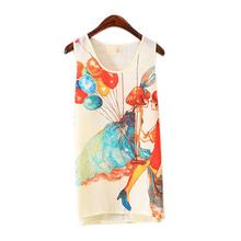 Hot Women Fitted Sleeveless T Shirt Graphic Printed T Shirt Vest Tank T Shirt Tops S
