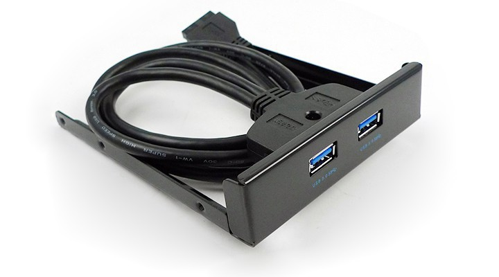 "Free shipping New 3.5"" Floppy Bay Internal 20 Pin 2 Ports USB 3.0 Front Panel Bracket Cable(China (Mainland))"