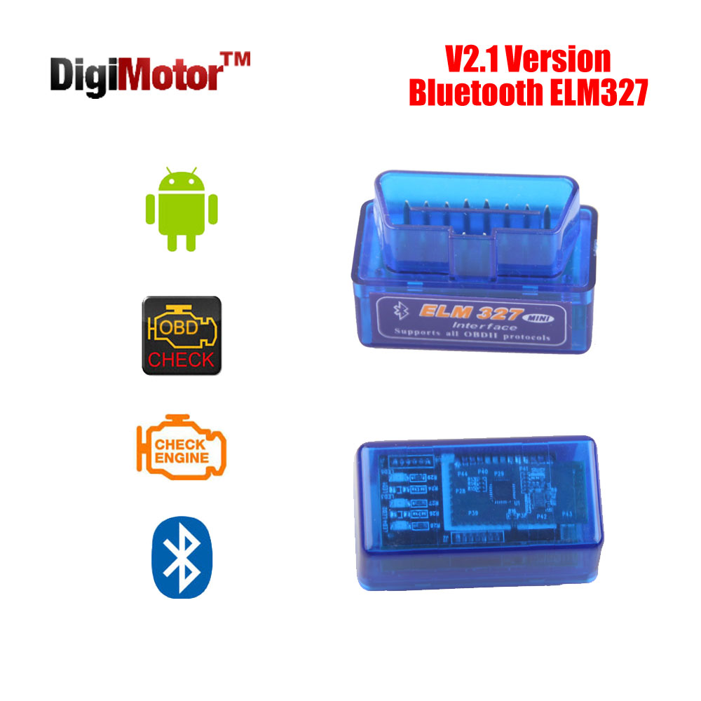 Mini V 2.1 ELM327 OBD2 Bluetooth Adapter ELM 327 V2.1 OBD 2 OBDII Scanner Diagnostic Scan Tool Car Code Reader OBD-II ELM-327 - Digimotor Technology Co., Ltd. store