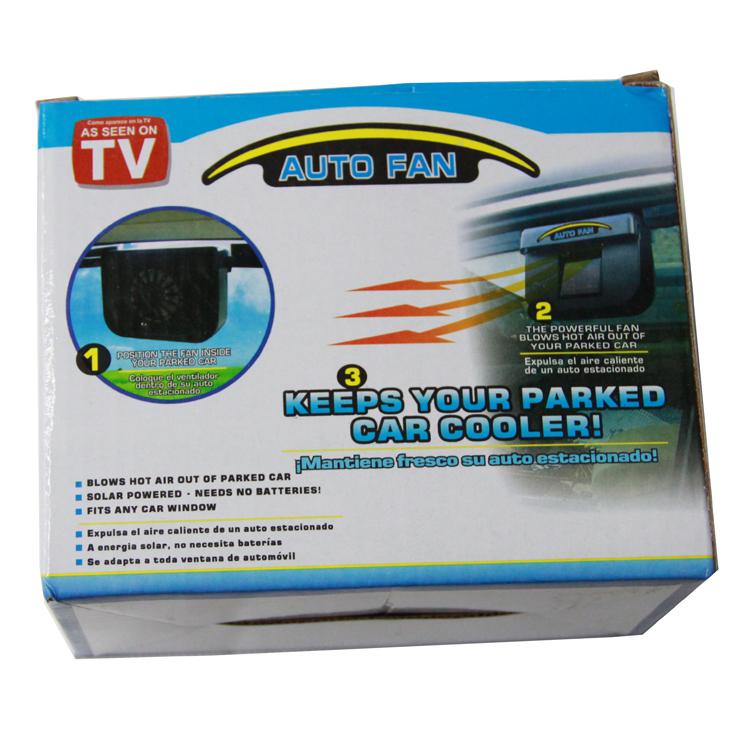 Solar Vent Fan >> As Seen On TV 48pcs/lot solar power AUTO FAN /CAR AIR VENT,car air conditioning, auto car fan ...