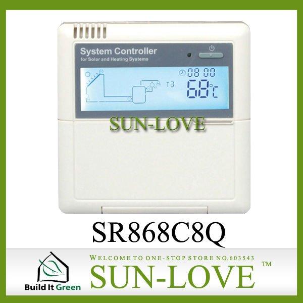 SR868C8Q Solar Working Station Controller,Pump Station Controller,Solar Collector Controller,110V/220V,LCD Display(China (Mainland))