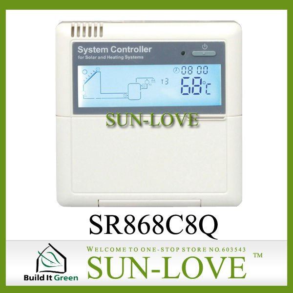 SR868C8Q Solar Working Station Controller,Pump Station Controller,Solar Collector Controller,110V/220V,LCD Display(China (Mainland))