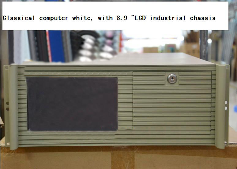 4u one piece computer case computer white band lcd screen with touch 4u server computer case(China (Mainland))