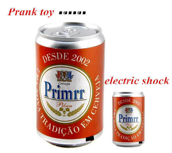 Creative Artificial Beverage can Electric Shocker Toy Novelty Prank Toy Joke Gift Free Shipping(China (Mainland))