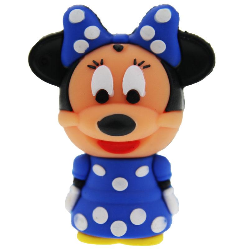 Hot Cartoon Small Blue Minnie USB Flash Drive Pen Drive 128M 512M 4GB 32GB Creativo Memory Stick 8GB U Disk Free Shipping(China (Mainland))