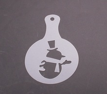 Snow Cappuccino Coffee Barista Stencils Coffee accessories Tools 8pcs set