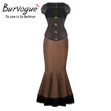 High Waist Elastic Ruffle Thin Steampunk Skirts