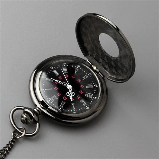 Vintage Steampunk Quartz Necklace Pendant Pocket Watch
