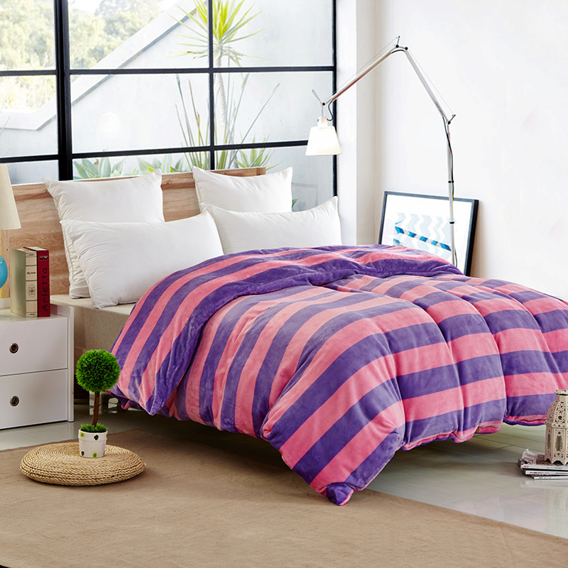 housse de couette duvet cover parure de lit bed set pink and purple bed linen striped edredones. Black Bedroom Furniture Sets. Home Design Ideas