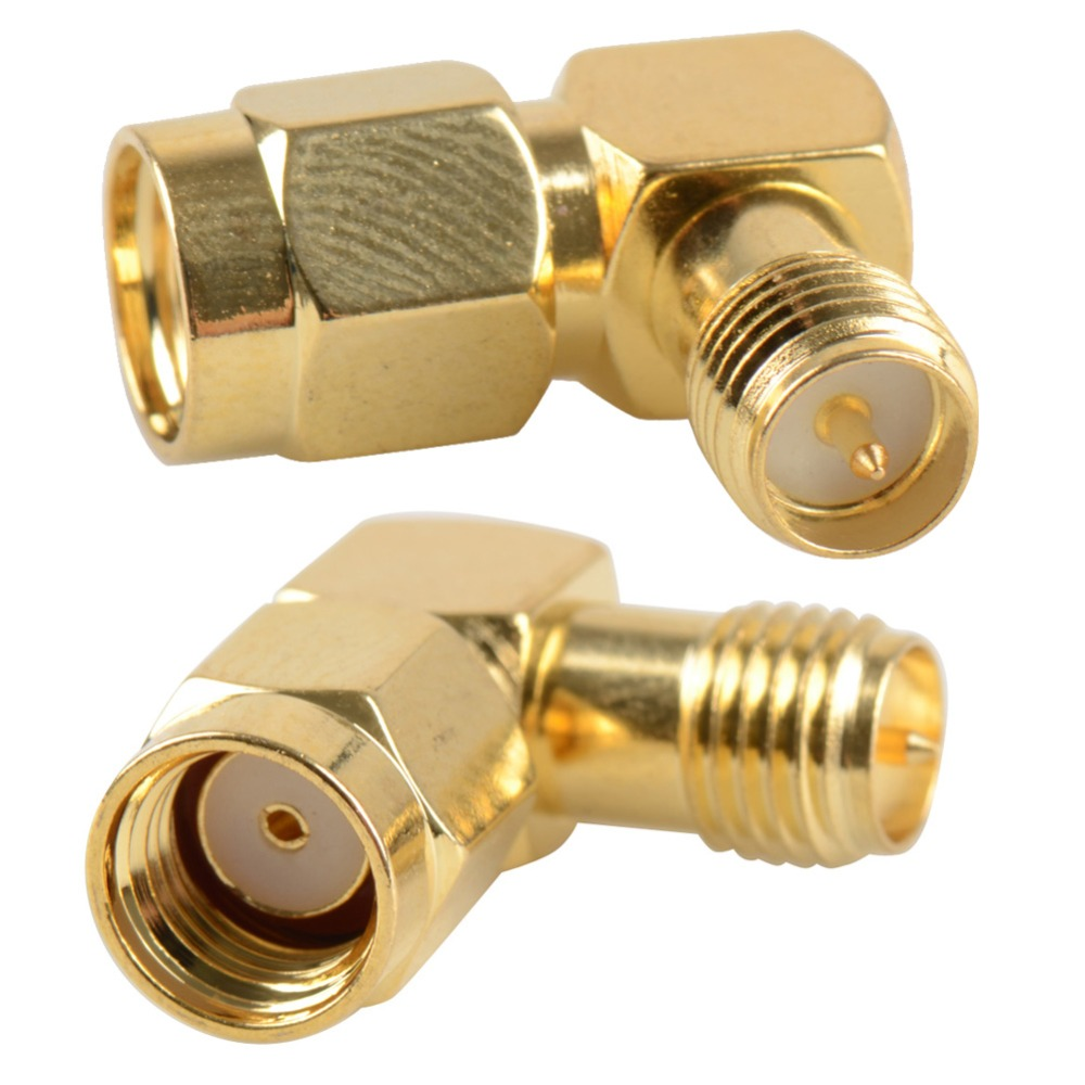 2016 RP-SMA Male Jack To RP-SMA Female Plug Right Angle 90 Degree RP Coaxial Connector Adapter VC525 P40(China (Mainland))
